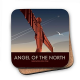 Angel Of The North Newcastle cork backed drinks coaster    (se)